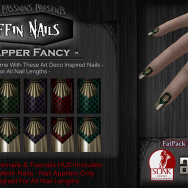 Dark Passions Koffin Nails