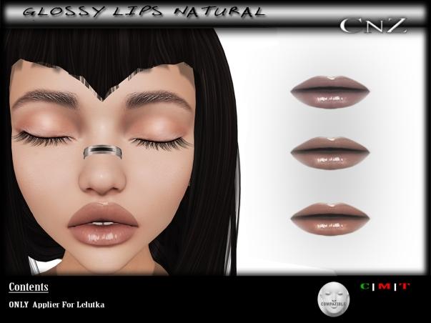 Glossy Lips Natural Lelutka AD