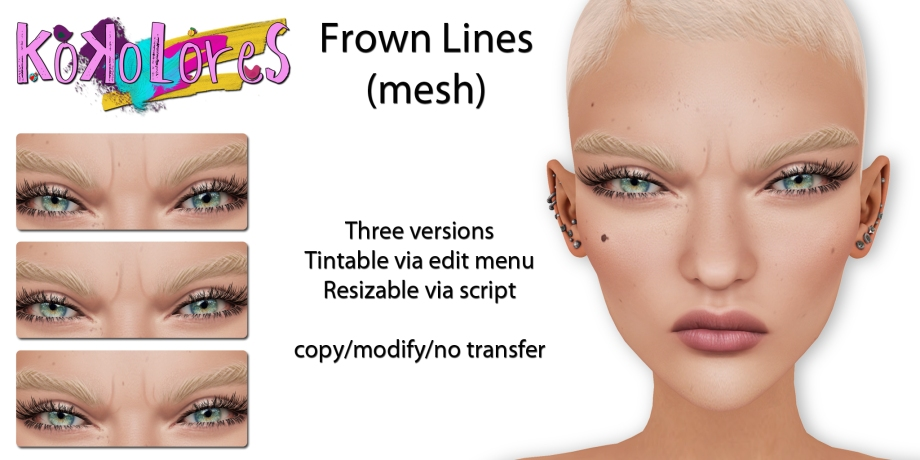 [KoKoLoReS] Frown Lines (mesh)