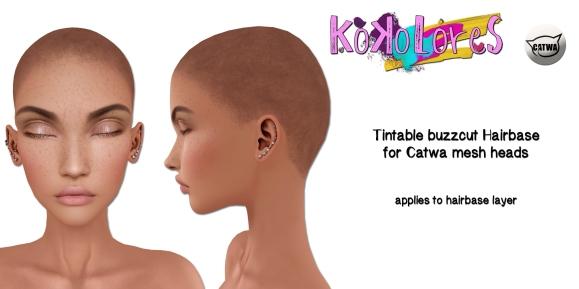 [KoKoLoReS] Tintable Buzzcut Hairbase Catwa
