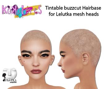[KoKoLoReS] Tintable Buzzcut Hairbase Lelutka