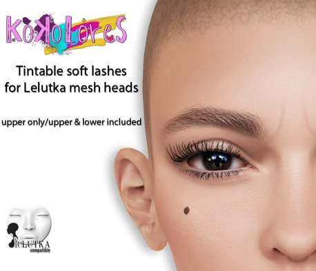 [KoKoLoReS] Tintable soft lashes Lelutka