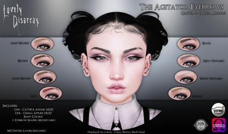 Lovely Disarray - The Agitator Eyebrows [AD]