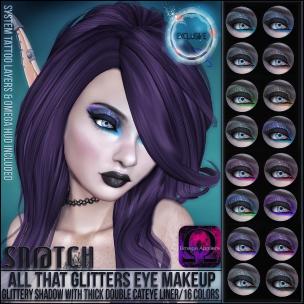 Sn@tch All that Glitters Eye Makeup Vendor Ad LG
