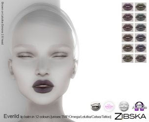 Zibska for Skin Fair 2017 - Everild Lip Balm