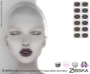 Zibska for Skin Fair 2017 - Everild Lip Balm