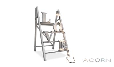 ACORN Love Ladder -White