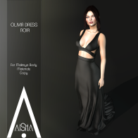 .AiShA. Olivia Dress Noir1024