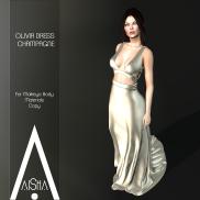 .AiShA. Olivia Dress CHAMPAGNE1024