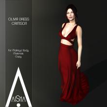 .AiShA. Olivia Dress cRIMSON1024