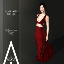 .AiShA. Olivia Dress cRIMSON1024