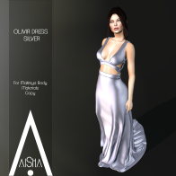 .AiShA. Olivia Dress Silver 1024