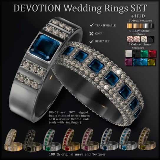 AvaWay DEVOTION Wedding Rings Set ads