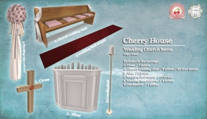 Cherry House-Wedding Church items