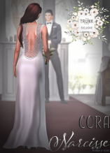 Narcisse Cora Gown Pearls Back View