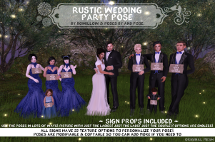 Rustic Wedding Pose Ad
