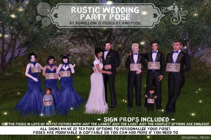 Rustic Wedding Pose Ad
