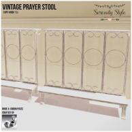 Serenity Style- Vintage Prayer Stool