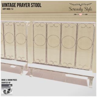 Serenity Style- Vintage Prayer Stool
