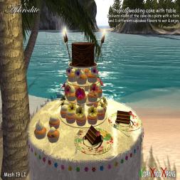 Aphrodite tropical wedding cake