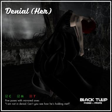 [Black Tulip] Poses - Denial (Her)