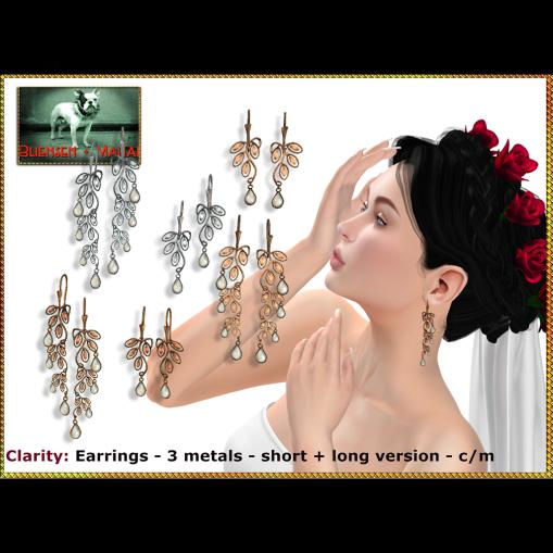 Bliensen - Clarity - earrings Poster