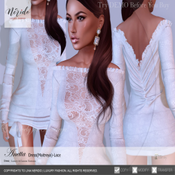 ~Nerido~Anetta Dress (Maitreya)-Lace