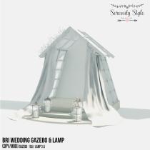 Serenity Style- Bri Wedding Gazebo & Lamp