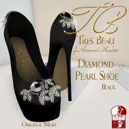 Tres Beau Diamond Pearl Shoe Black