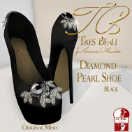 Tres Beau Diamond Pearl Shoe Black