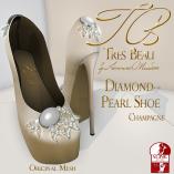 Tres Beau Diamond Pearl Shoe Champagne