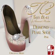 Tres Beau Diamond Pearl Shoe Pink