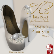 Tres Beau Diamond Pearl Shoe White