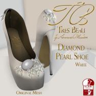Tres Beau Diamond Pearl Shoe White
