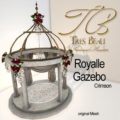 Tres Beau Royalle Gazebo Crimson