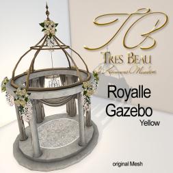 Tres Beau Royalle Gazebo Yellow