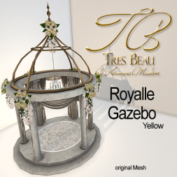 Tres Beau Royalle Gazebo Yellow