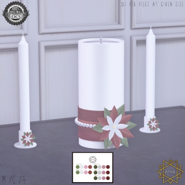 Ama. Holiday Unity Candle Set Main Promo 2017