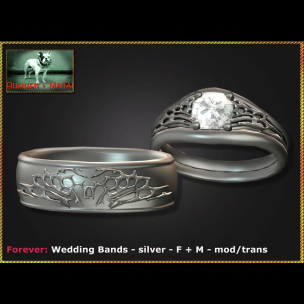 Bliensen - Forever - Wedding Bands - silver - F+M Ad