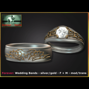 Bliensen - Forever - Wedding Bands - silver gold - F+M Ad