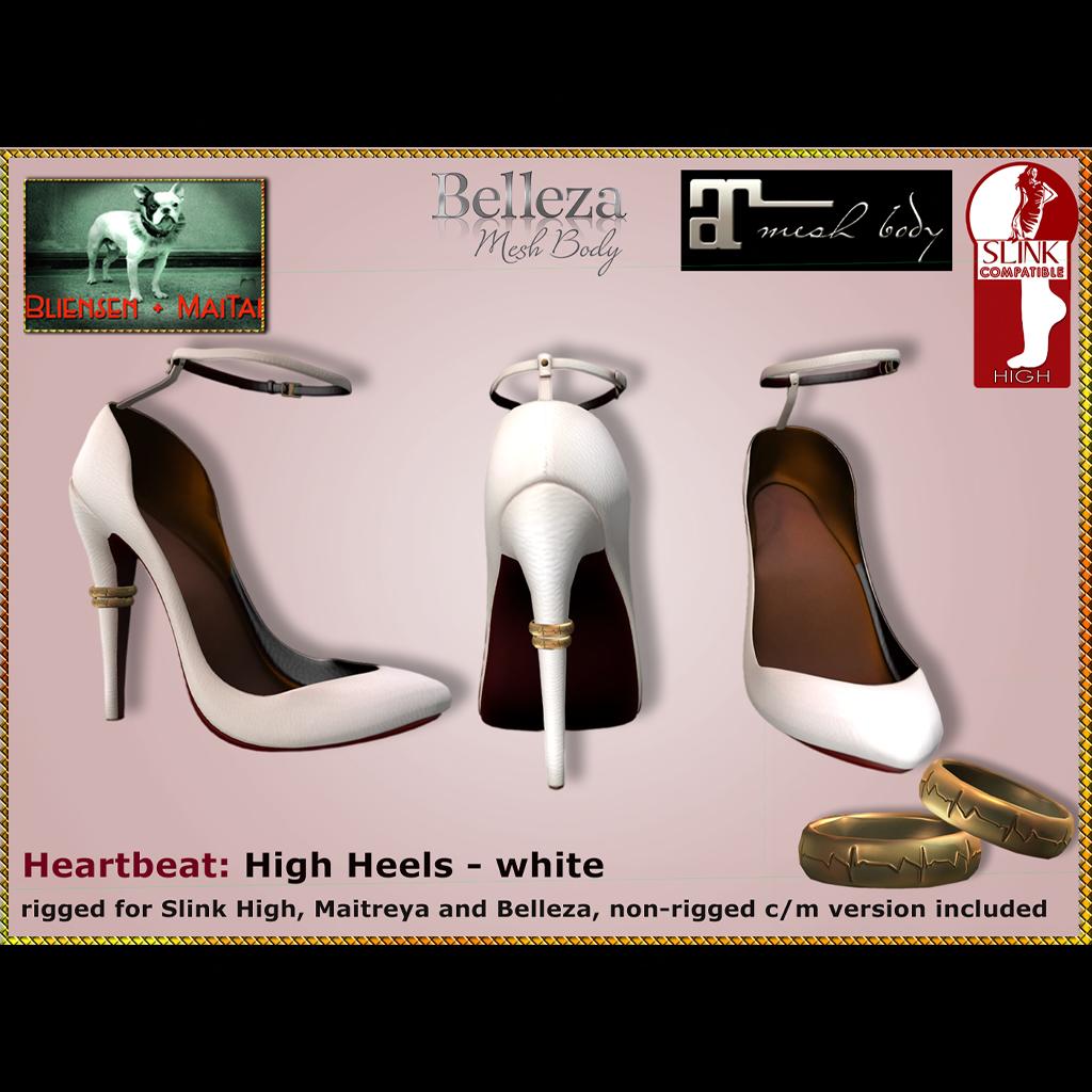 c5324fd69d Bliensen – Heartbeat – High Heels – White Ad