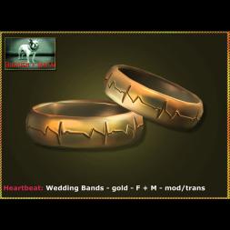 Bliensen - Heartbeat - Wedding Bands - gold - F+M Ad