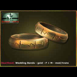 Bliensen - Heartbeat - Wedding Bands - gold - F+M Ad