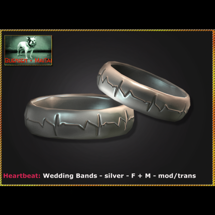 Bliensen - Heartbeat - Wedding Bands - silver - F+M Ad