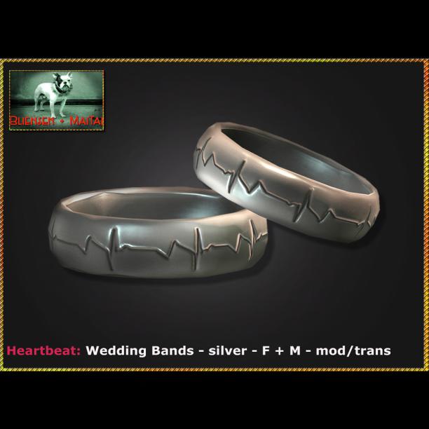 Bliensen - Heartbeat - Wedding Bands - silver - F+M Ad
