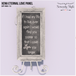 Serenity Style-Xena Eternal Love Panel