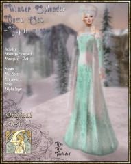 Winter Splendor Gown Set-Peppermint-Promo Art