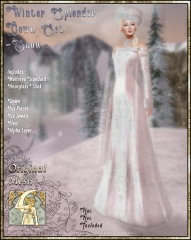 Winter Splendor Gown Set-Snow-Promo Art