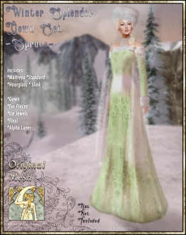 Winter Splendor Gown Set-Spruce-Promo Art