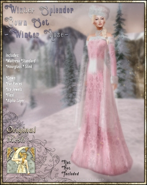 Winter Splendor Gown Set-Winter Rose-Promo Art